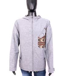 Details About River Island Mens Jacket Thin Hood Grey Size Xl