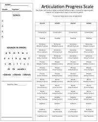 Speech Therapy Progress Chart Love This Articulation Progress Chart Education Speech