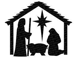 Find images of baby jesus. Manger Svg Nativity Svg Stable Svg Christmas Svg Nativity Clip Apple Grove Lane