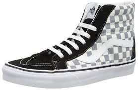 vans shoes high tops black. vans sk8-hi checker, unisex adults\u0027 hi-top sneakers: amazon.co.uk: shoes \u0026 bags high tops black a