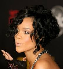 short wavy african american hairstyles black women with short wavy hairstyles bangs good for wedding