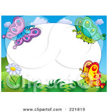 Small Picture Clipart Flowers And Butterflies Border Free Clip Art Images