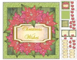 Poinsettia Card Christmas Poinsettia Card With 8 Different Sentiments And Two Inserts 7x7