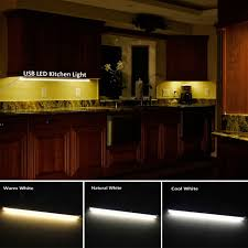 led kitchen lighting. LED Kitchen Lights 5V USB Rigid Strip Light Dimmable Aluminum Bar Lamp For Under Cabinet Led Lighting
