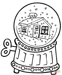 Small Picture Snow Globe coloring page Free Printable Coloring Pages