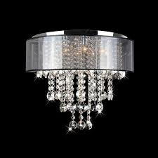 unique flush mount crystal lighting for chandeliers designs 5