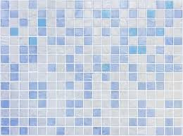 Closeup Surface Tiles Pattern At Blue Tiles In Bathroom Wall Texture
