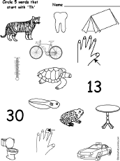 things that begin with the letter t letter t alphabet activities at enchantedlearning com