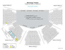 Sfjazz Seating Chart Ucsc Mainstage Seating Map