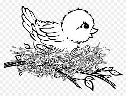 bird nest clipart black and white. Interesting Clipart Clipart Of Birds Black And White Bird Nest Free Download  In A  With O