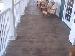 wood plank stamped concrete floor