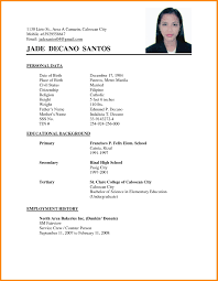 Latest Resume Format Sample In The Philippines Inspirationa Simple