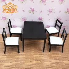 dollhouse dining room furniture. 1/12 Dollhouse Dining Room Furniture Set 5pcs Black And White Chairs Tables D