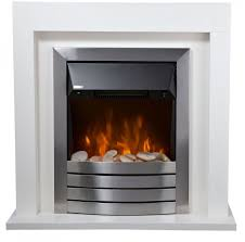 living compact pebble electric fire suite