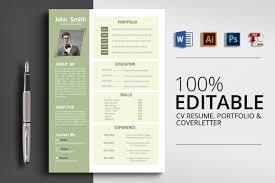 Creative Design Resume Cv Template Word Vsual