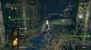 a woman scorned after having rested and lit you may return to the arena you defeated artorias to find ciaran mourning his