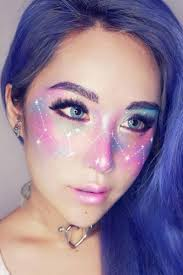 galaxy makeup looks