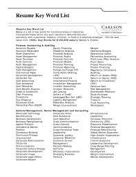 Resume Keywords List The Letter Sample