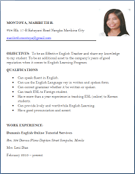 Resume For Teachers Job Application