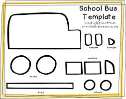 Small Picture FREE Printable School Bus Craft Template Flannel boards School