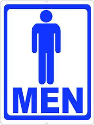 Blue mens bathroom sign Ladies Mens Room Sign Sala Graphics Mens Room W Symbol Bathroom Sign Signs By Salagraphics