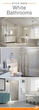 Bright, white bathrooms are classic because the clean color opens ...