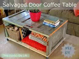 salvaged door coffee table diy