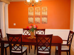 red dining room color ideas. Decorating : Red Dining Room Accent Orange Wall With Wood Furniture Walls Design Ideas Designer Color