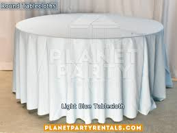 light blue tablecloth for 60 round table