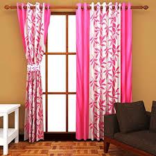 Cozyland Super India <b>Floral Polyester</b> Window Curtain - 5ft, <b>Pink</b> ...