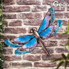 garden gear metal glass dragonfly