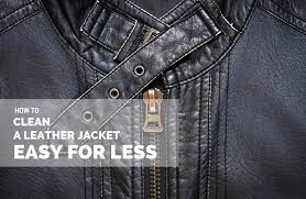 how to clean a leather jacket easy for less