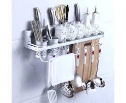 kitchen utensil hanging rack wall mount knife e kitchen utensil hanging rack organizer aluminum kitchen wall shelf with 2 kitchen utensil hanging rack