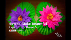 Paper Lotus Flower How To Make A Paper Lotus Flower Magdalene Project Org