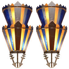 art deco theater light sconces vanity ballroom