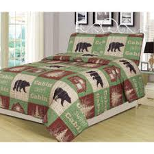 Country Living Molly Full Queen Puff Quilt & Howplumb Full/Queen Size Log Cabin Bear Quilt Set Country Rustic Lodge  Cottage Bedspread Coverlet Adamdwight.com