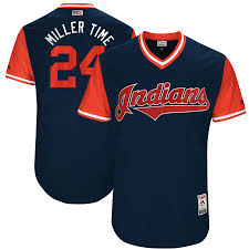 Weekend Navy Jersey Miller Cleveland Players Majestic