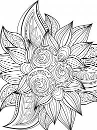 Spring Flowers Coloring Pages Printable Amusing Free Printable