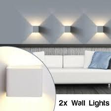 down 2x9w led wall light au wal552
