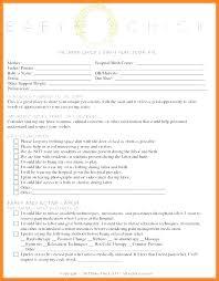Sample Natural Birth Plan Hospital Birth Plan Template