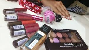 beauty centre makeup haul mumbai miss claire sivanna colors mac limecrime maybellinefitme blender