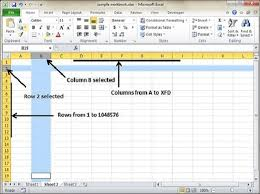 Ms Excel Rows And Columns In Excel 2010