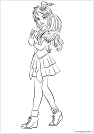 Coloring Pages Descendants 2 Coloring Pages Free Collection Of Two