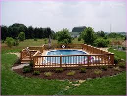backyard landscaping ideas above ground pool 80 jpg
