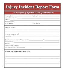 Incident Report Template Word Incident Report Forms Templates