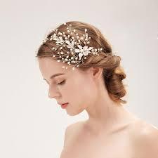 Coiffure à La Main Coiffe 2019 Nouveau Mariage Hairband Fleur Accessoires De Mariage Vente Chaude Asymétrique Bandeau Bijoux De Luxe