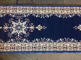 traditional long persian runner area rug dark blue design 510 31 inch x 9 feet