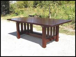 craftsman dining table gustav stickley harvey ellis inspired with plans 9