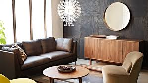apartment furniture layout ideas. Living Room, A Room With Dark Brown Two Seat Leather Sofa Chaise Apartment Furniture Layout Ideas