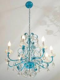 baby blue chandelier for baby blue chandelier as well as chandelier makeovers blue chandelier redo easy